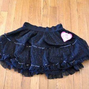 NWT Candies Girls Black Sequin Skirt-Size 16